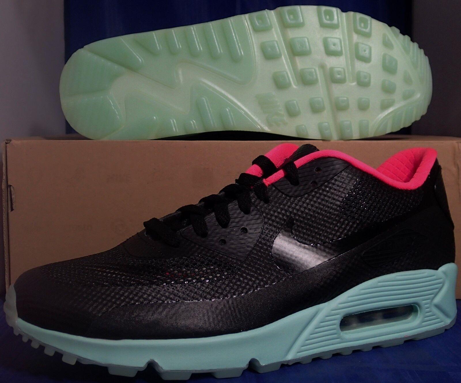 e72386c03621 Nike Nike Nike Air Max 90 Hyperfuse Premium Id Noir Menthe Rose Yeezy Sz 10  (