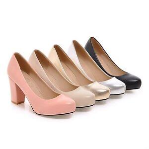 Women-039-s-Platform-Block-Heels-Causal-Court-Shoes-Party-Pumps-AU-All-Size-S-667