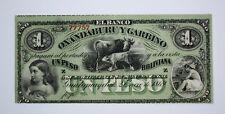 ARGENTINA OXANDABURU Y GARBINO 1 PESO BOLIVIANA - UNC 1869 - Pick S1782R