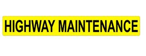 Highway Maintenance Magnet Highways Road Works Sticker Magnetic 620mm x1
