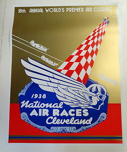 1938 national air races poster cleveland ohio ebay