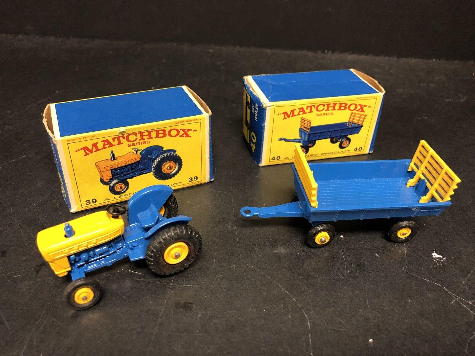autentico en linea Lesney Matchbox Ford Tractor & DE HENO REMOLQUE Lote de de de 2 EM0644  mejor calidad mejor precio