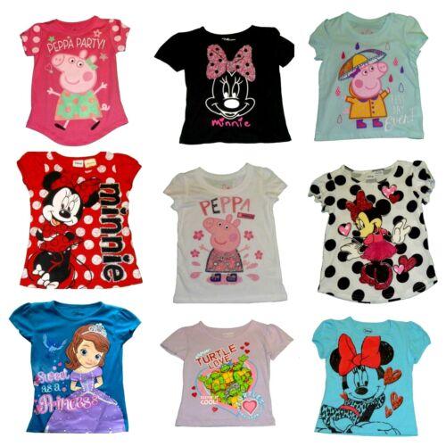 Peppa Pig Teenage Mutant Ninja Turtles Disney Minnie Mouse Sofia Girls/' Tops NWT
