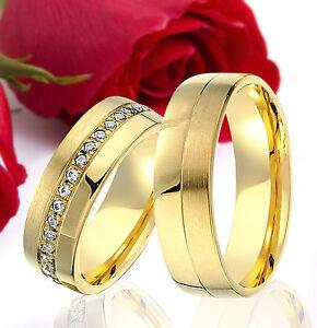 2-SILBER-Partner-Ringe-Trauringe-Eheringe-Gravur-Gratis-GOLD-Plattiert-T333