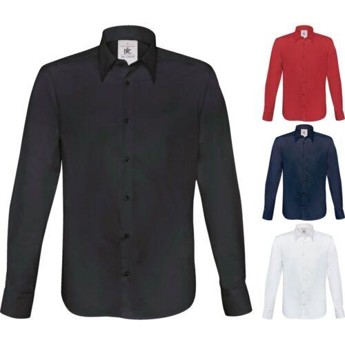 Mens London Cotton Rich Long Sleeve Poplin Shirt