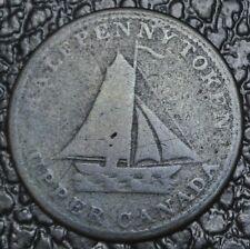 1833 UPPER CANADA HALFPENNY TOKEN - To Facilitate Trade - BR730