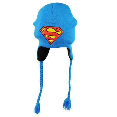 Fanartikel Dc Comics Superman Peruanischer Quaste Blau Leder Logo Gestrickte Mütze Super üBerlegene Leistung