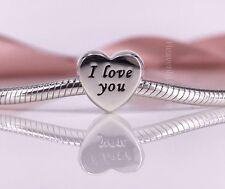 New Genuine Pandora Silver Words Of Love Heart Charm 791422