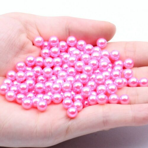 5mm 1000pcs No Hole Round Pearls Multiple Colors Nail Art Decorations