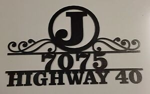 10109-PERSONALIZED-HOUSE-ADDRESS-PLAQUE-w-STREET-NAME-amp-Number-plasma-cut-steel