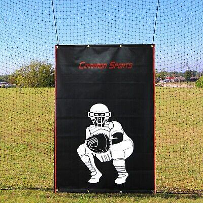 "Backstop 64/""H x 41/""W Heavy Duty Vinyl Baseball Football Batting Jones-Sports"