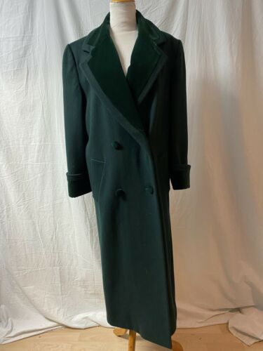 Vintage 80s Green Wool Chesterfield Oversized Coat