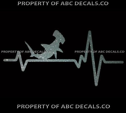 VRS Heart Beat Line ANIMAL HAMMERHEAD Shark Hammer Jaws Attack CAR METAL DECAL