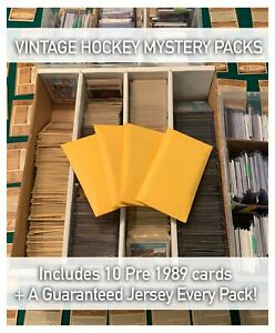 VINTAGE MYSTERY NHL HOCKEY CARDS PACK! *READ DESC* +GUARANTEED JERSEY CARD!!!