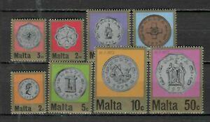 S33040 Malta 1972 MNH New Coins 8v