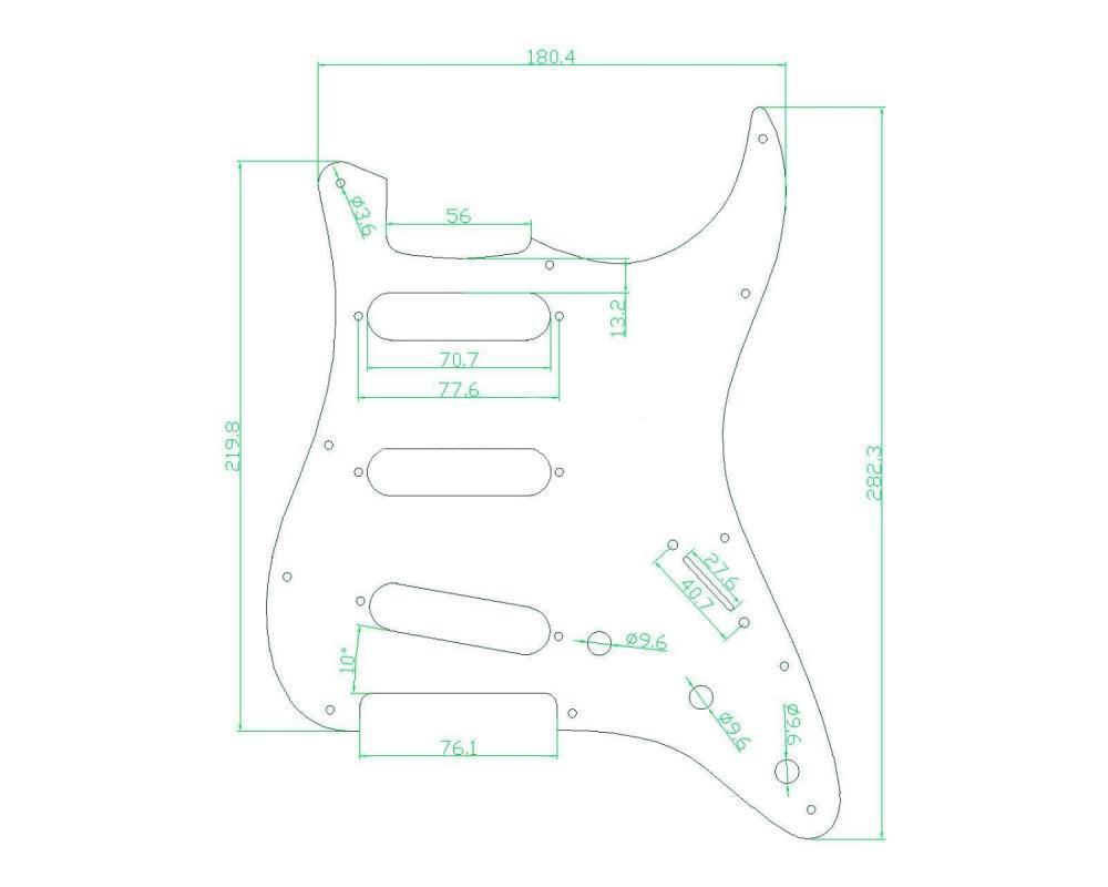 brown tortoise sss pickguard scratch plate trem cover
