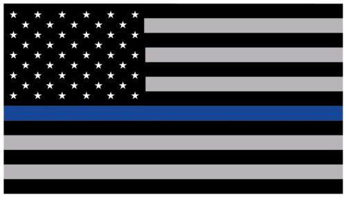 "3.5/"" X 6/"" AUTOMOTIVE BLACK GREY BLUE STRIPE STICKER AMERICAN FLAG"