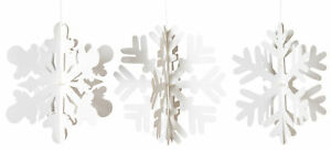 12-in-Snowflake-Paper-Hanging-Christmas-Ornaments-Decorations-Set-of-3