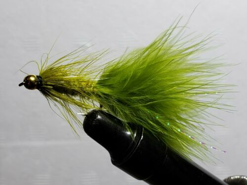 Taille 10 * Mouche-Mouches ** 4 mouches ** Olive Laineux bougre-Beadhead **