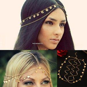 Image Is Loading Boho Arabian Womens Metal Head Chain Dress Jewelry