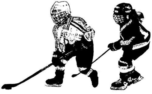 Unmounted Rubber Stamps Ice Hockey Players Scrapbooking Kids Sports Stamps