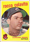 1959 Topps Rocky Colavito Cleveland Indians #420 Baseball Card
