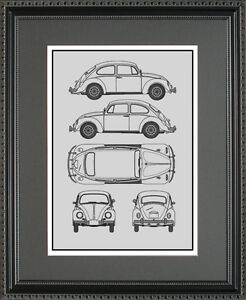 Blueprint art volkswagen beetle bus golf passat toureg choose image is loading blueprint art volkswagen beetle bus golf passat toureg malvernweather