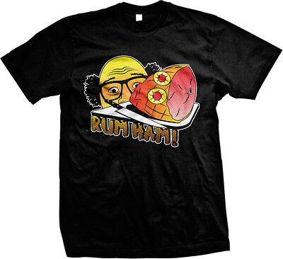 Rum Ham TV Parody Funny Humor Meme Joke Hilarious Laughter Mens T-shirt