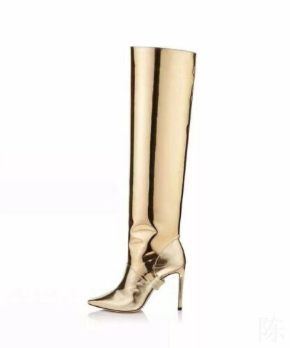 Details about  /Sexy Women/'s Knee High Thigh High Boots Pointed Stilettos Heels Party Size 34-43