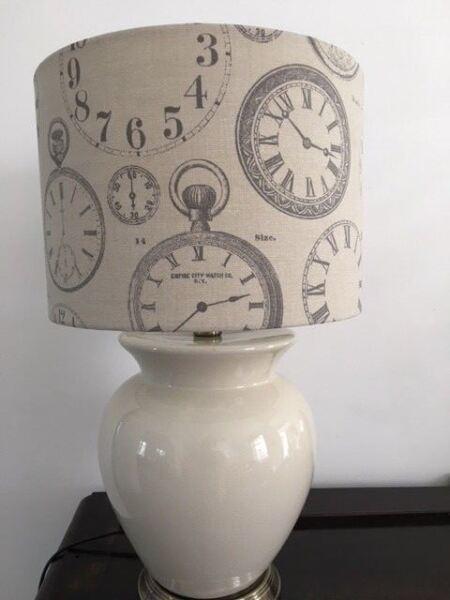 """""""orologi's Stampa 30cm Lampada/soffitto Paralume In Tessuto Di Cotone Visage Lussuoso Nel Design"""