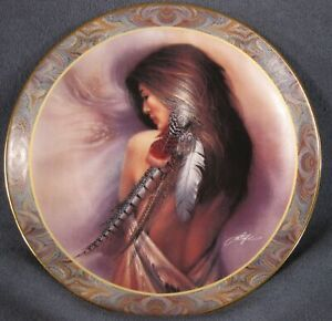 White-Feather-Collector-Plate-Native-Beauty-Lee-Bogle-Bradford-Indian-Woman-1994
