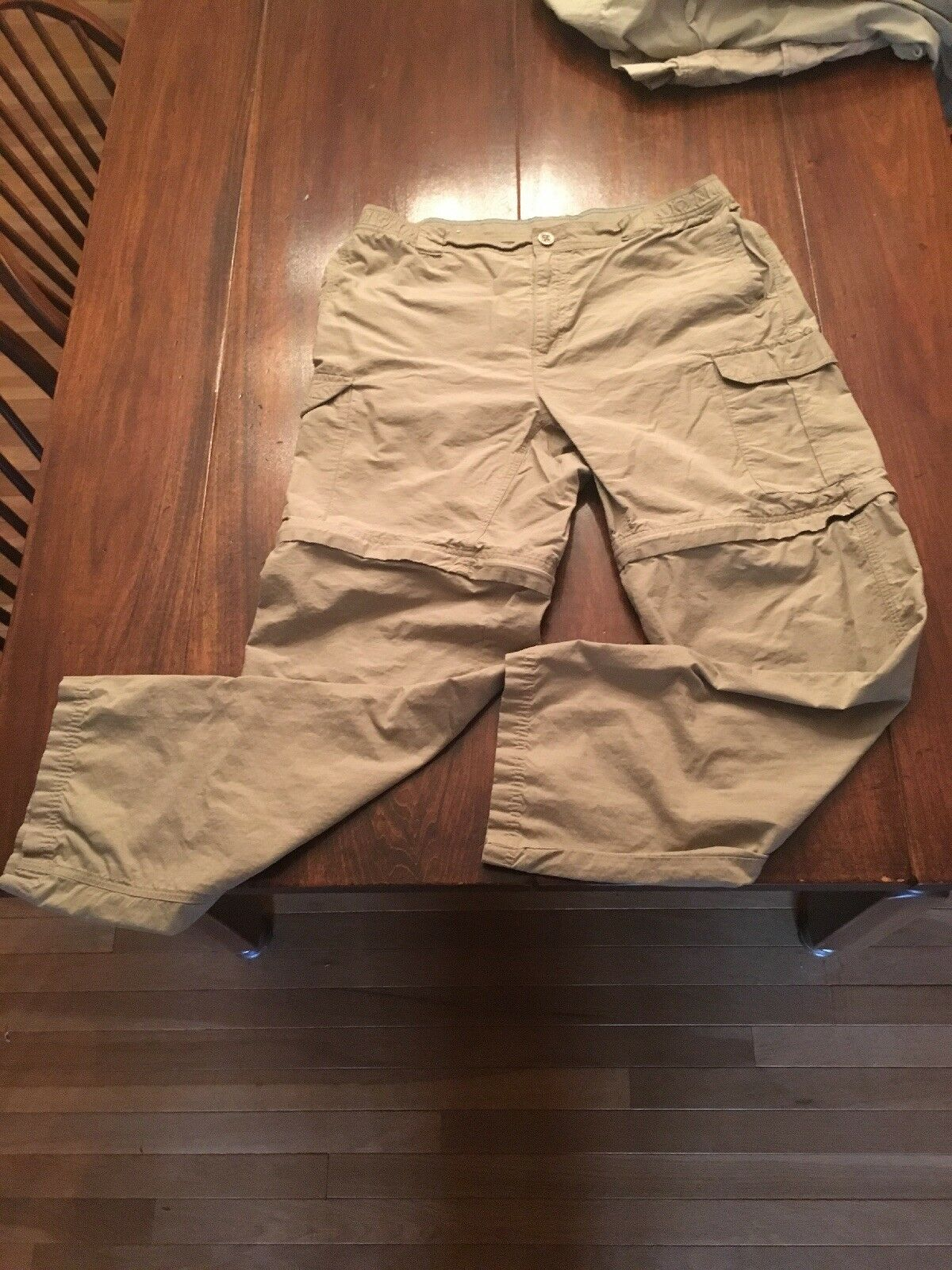 COLUMBIA CONgreenIBLE PANTS MENS SIZE LARGE 32 IIMSEAM ELASTIC WAIST CARGO