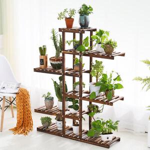 Strength-Multi-Tier-Wood-Flower-Rack-Plant-Stand-Holder-Bonsai-Shelf-Home-Garden