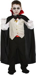 Image is loading Childs-Kids-Little-V&ire-Halloween-Fancy-Dress-Costume-  sc 1 st  eBay & Childs Kids Little Vampire Halloween Fancy Dress Costume Age 4 - 12 ...