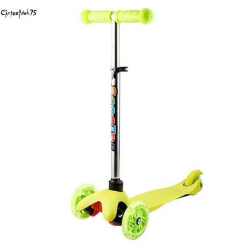 Scooter 3Rad Roller m LED Räder Kinderroller Cityroller Kickboards Tretroller