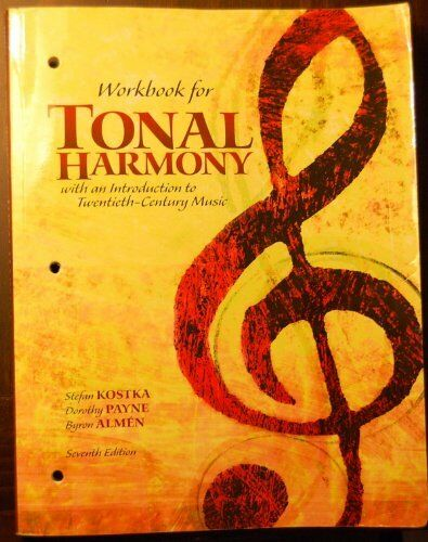 Workbook For Tonal Harmony by Kostka | eBay