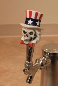 AMERICAN-SKULL-ORNAMENT-BAR-BEER-TAP-HANDLE-NEW-COLLECTIBLE-USA-ANTIQUE