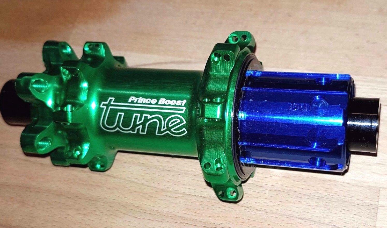 Tune Prince Straight Boost 148x12 Disc Rear Hub Sram Xd Shimano Bilious Green 32