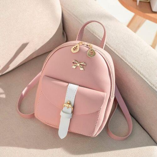 Women Girl School Mini Backpack Purse Small Shoulder Bag Travel Rucksack