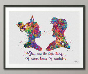 Princess Tiana Watercolor Print Tiana And Naveen Love Quote Disney
