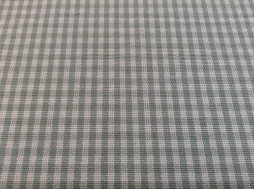 New St Ives  Woven Pettite Gingham Curtain//Craft Fabric 140cm wide grey green