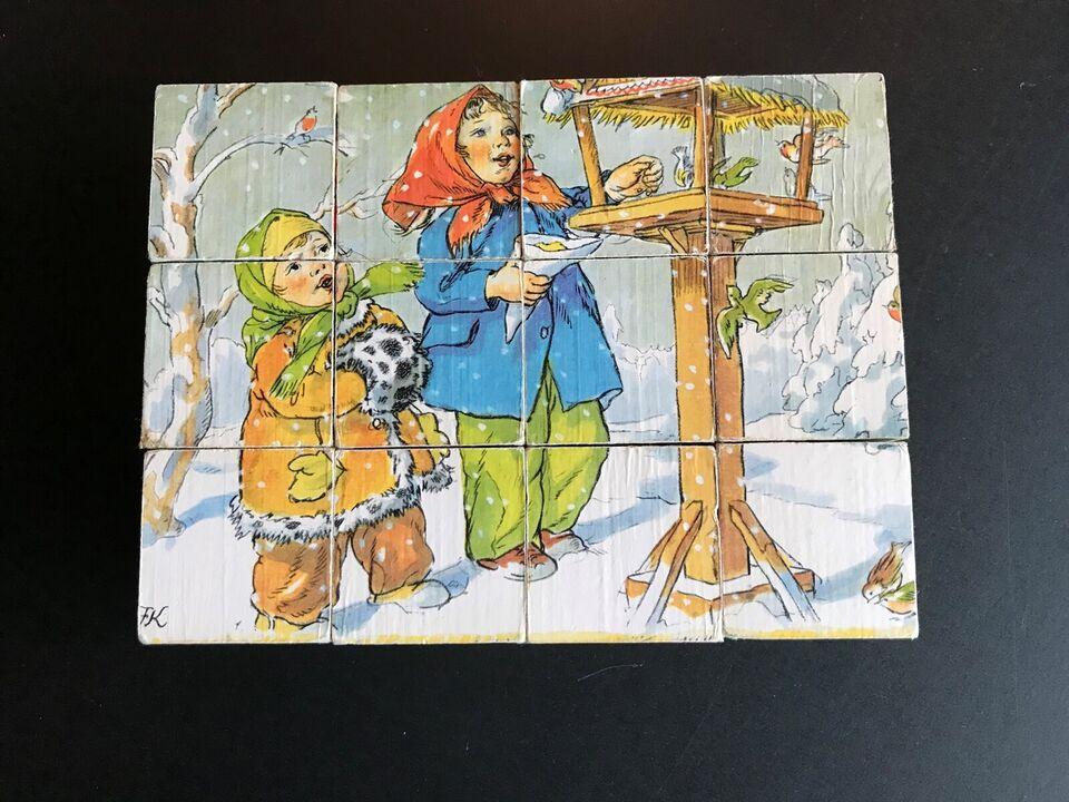Børn i gamle dage, Klodspuslespil af træ, puslespil
