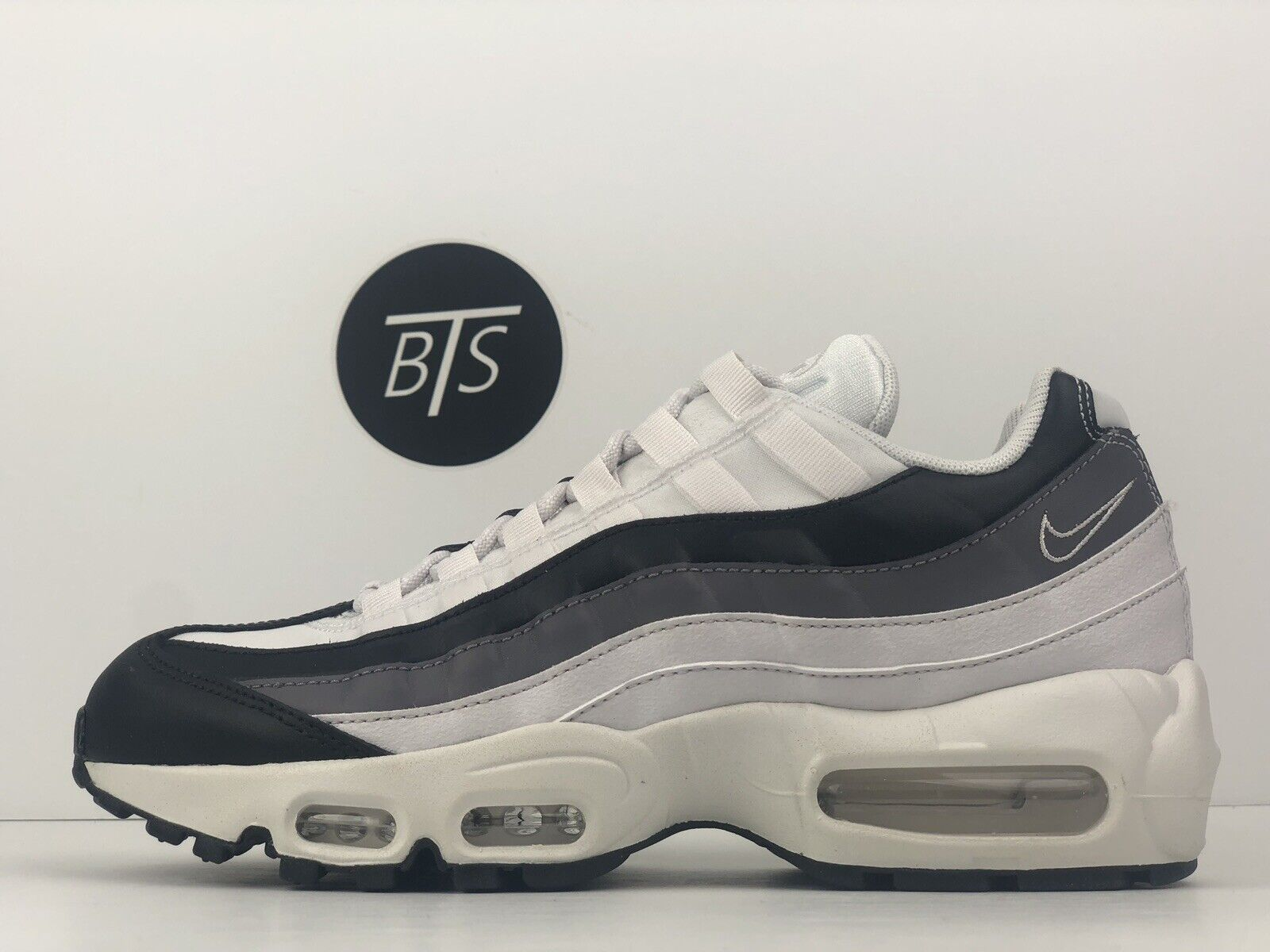"Women's Nike Air Max 95 ""Gunsmoke"" Size-8 White Grey Black (307960 021)"