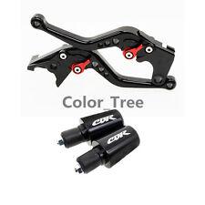 Black CNC Short Brake Clutch Lever&Handle Bar Ends For Honda CBR600 F4/F4i 99-06