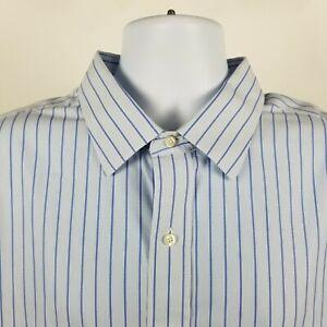 Brooks-Brothers-Madison-Non-Iron-Supima-Cotton-Blue-Striped-Dress-Shirt-18-5-35