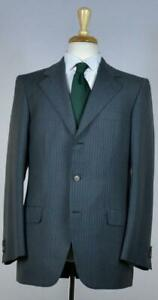 Brioni Mens 'Palatino' Gray Stripe Wool Suit Size 38 /48 R NEW $5400 Classic-Fit