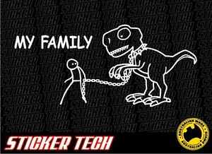 MY-FAMILY-DINOSAUR-STICKER-DECAL-MADE-TO-SUIT-4X4-4WD-UTE-PICKUP-TRUCK-VW-KOMBI