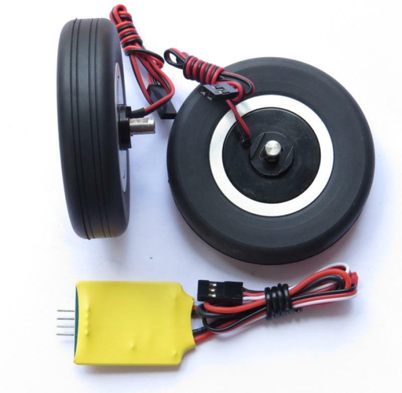 JP Part 55mm Brake Wheel Set A for RC Fixed Wing Model Plane Axle diameter 5.0MM