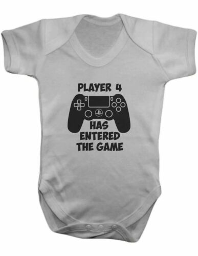 Player 4 Has Entered the Game , Bodysuit,Vest,Baby Grow,Romper,Gift,100% Cotton