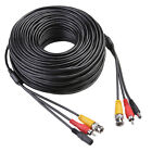 150ft Black CCTV Security Camera Cable Video Power Wire BNC RCA Black Cord DVR